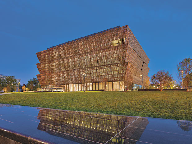 Smithsonian National Museum of African American History and Culture, NMAAHC, in Washington – Aussenansicht  ©Foto: Alan Karchmer