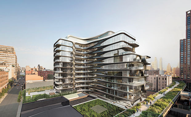 """520 West 28th"" von Zaha Hadid © Visualisierung: Hayes Davidson"