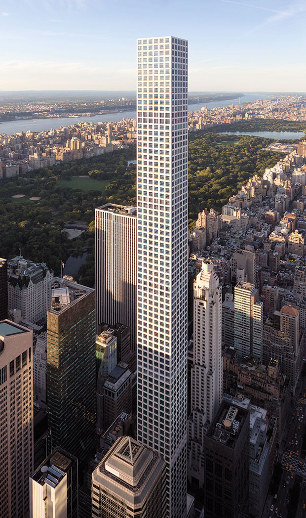 """432 Park Avenue"" von Architekt Rafael Viñoly ©Visualisierung: DBOX for Macklowe Properties and CIM Group"