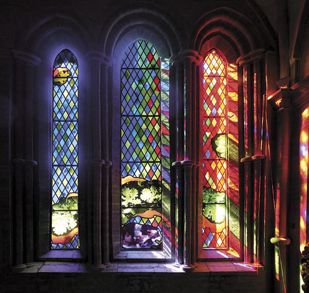 Brian Clarke, 'Linköping Domkyrke', Schweden. Stained Glass. 2010. ©Foto: Brian Clarke
