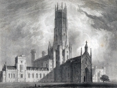 Fonthill Abbey - Darstellung der Anlage © Abbildung aus: Delineations of Fonthill and its abbey by John Rutter, 1823