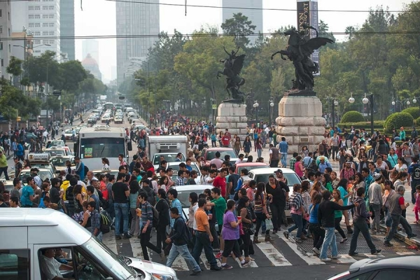Mexico City crossing ©Audi Urban Future Initiative