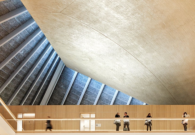 Neues Designmuseum London - Dachkonstruktion Innen © Foto: © Hufton + Crow