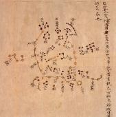 Die Dunhuang-Sternkarte © http://en.wikipedia.org/wiki/Dunhuang_Star_Chart